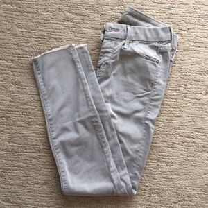 Mother jeans in dove gray, size 24